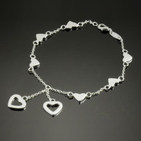 Wholesale 2013Hot Fashion Women s Bracelet Love Chain Noble Silver925 Jewelry Romantic Hand Chain S53