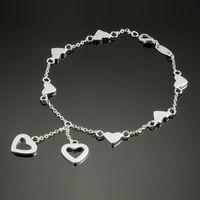 Wholesale 2013Hot Fashion Women s Bracelet Love Chain Noble Silver925 Jewelry Romantic Hand Chain S53