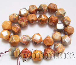 8SE05963a 12MM Crazy lace Agate Faceted Nugget Beads