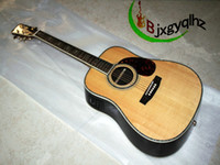 Wholesale Custom D45 Acoustic Electirc Guitar with Fishman Abalone shell Mosaic String guitar