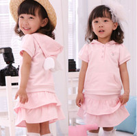 Wholesale baby clothing set with angel wings girl s clothes sets childrens hoodies skirt suits set
