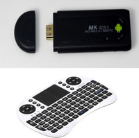 Wholesale MK809 II Android TV Box Rockchip RK3066 GHz Dual core GB GB Bluetooth UKB RF Keyboard
