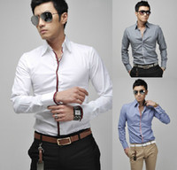 Men Cotton Long Sleeve Mens shirts2012 hot sale New men's Slim Fit Silk Sleeve Luxury Dress Shirts A110