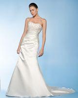 Cheap Wow 2013 Sexy Strapless Wedding Dresses Gown White Ivory Ruffle Taffeta Bridal Dress Prom Gown RL100