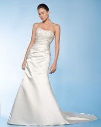 Wholesale Wow Sexy Strapless Wedding Dresses Gown White Ivory Ruffle Taffeta Bridal Dress Prom Gown RL100