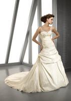Cheap Beach 2013 wedding dresses Best Autumn/Spring Sexy taffeta dress gowns