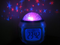 Wholesale Colorful Music Starry Star Sky Projection projector with Alarm Clock Calendar Thermometer