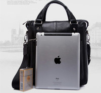 Black real leather designer handbags - Best quality real leather man bag for Ipad designer men handbag brand man bags Bl