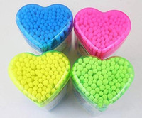 applicators cotton tip - Health Household Swab Natural Cotton Swab Sponge tip Applicator Double Head Q tips box