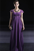 A-Line Sexy Appliqué Wow 2013 Purple Ruffles Chiffon Party Dresses Gown Sexy Ankle-Length A Line Prom Evening Dress RL178