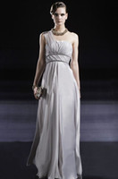 A-Line Modern Appliqué Wow 2013 One Shoulder Chiffon Party Dresses Gown Sexy Ankle-Length A Line Prom Evening Dress RL179