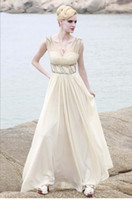 A-Line Sexy Appliqué Wow 2013 Elegant V Neck White Ruffle Chiffon Party Dresses Gown Sexy A Line Prom Evening Dress RL186