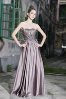 Sheath/Column Modern Appliqué Wow 2013 Strapless Ruffled Taffeta Party Dresses Gown Elegant Beads Sash Prom Evening Dress RL193