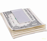 Wholesale Piece Silver Portable Stainless Steel Money Clip Credit Card Holder Wallet