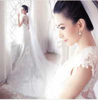Wholesale New arrival hot sale fashion special elegant Princess Royal Style bride back fish tail wedding dress