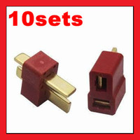 Wholesale Deans Style T Plug Nylon T Connector Golden T Plug T Plug For RC helicopter RC CA