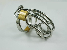 Wholesale New S size Male Stainless Steel Bondage Chastity Art Device Cage Cock ring SM Fetish Sex toys