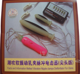 Wholesale Shock Therapy Electro Massager Kit with Nipple Clamps Electro Sex Kit E Stimulation Sex Toys
