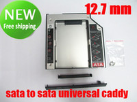 Wholesale 2nd SSD HDD HD Hard Disk Driver Caddy SATA for mm CD DVD ROM Optical Bay Universal caddy