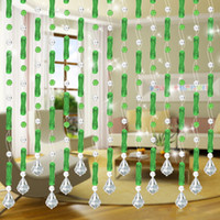 Wholesale Beaded Curtains Twisted Long Green Hanging Beads for Wedding Backdrops Decoration Room Dividers