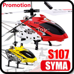Wholesale Super Deal SYMA S107 S107G Gyro Electric CH Metal Infrared Remote Control Mini RC Helicopter Heli