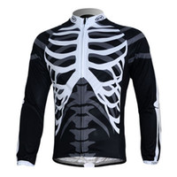 Wholesale NorthWave Skeleton Style Long Sleeves Cycling Jersey Only Cycling Shirts Men s Cool Bike Jackets Bicycle Tops Black