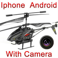 Wholesale 3 ch video iphone ipad android control rc helicopter with camera gyro wl s215 ID01