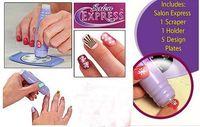 Manicure Kit No  Lowest Price Free Shipping 240pcs lot Salon Express Nail Art Stamping Kit Nail Care Stencil Kit