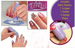 Wholesale Lowest Price Salon Express Nail Art Stamping Kit Nail Care Stencil Kit
