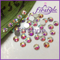 Wholesale SUPER SHINY BLING CRYSTAL CLEAR AB SS20 mm Flat Back Crystal Rhinestones Non Hotfix ss