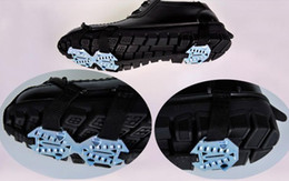 Brand New iron 15 teeth crampon Climb Ice Crampon snow Walking Cleat Portable antiskid anti-skiding