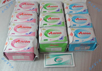 CE/EU day, night and daily 10packs Free shipping Winalite Lovemoon anion sanitary napkins Russion version 10packs set