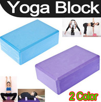 Wholesale Blue Violet Yoga Block Brick Foaming Foam Home Exercise Practice Fitness Tool
