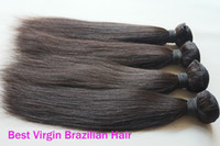 Wholesale 12 quot with mix length Yaki brazilian virgin Hair Weave human hair extensions