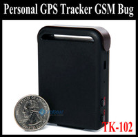 Wholesale Hot Mini Pocket Personal GPS Tracker GSM Bug Monitor Device TK102