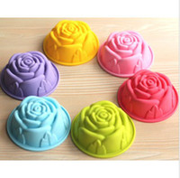 silicone soap molds - Cake Cup Mould Rose Cupcake CM Silicone Cake Molds Jelly Pudding Soap Molds