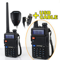 Wholesale UV R BAOFENG Dual FEQ UHF VHF Radio Free USB Prog Cable Original Speaker