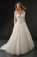 Wholesale 2013 Wedding dresses lace Corset Applique Floor Length Tulle a line wedding dresses