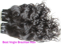 Wholesale 12 quot pc French curl can mix Virgin Brazilian Hair Weave Human Hair Extension natural black