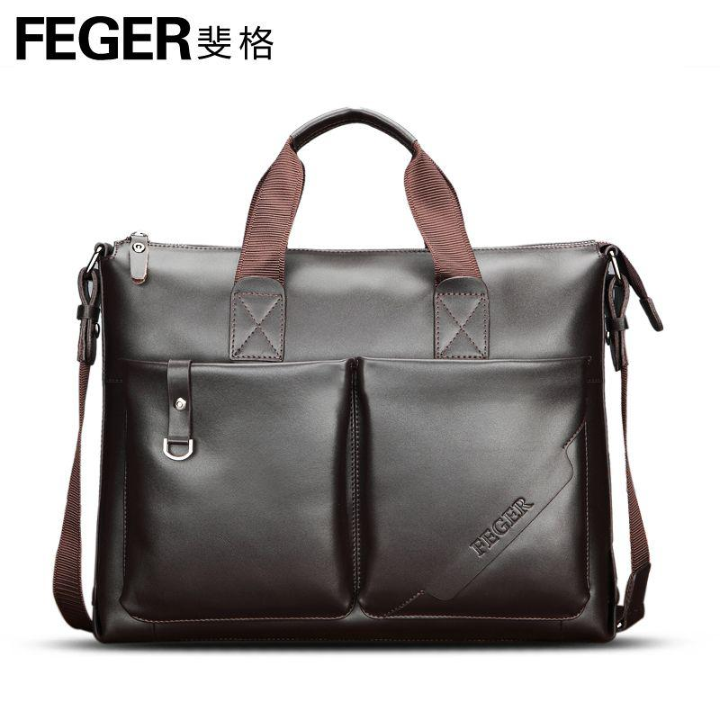 Male Handbag Leather Bag Men's Laptop Bag Commercial Briefcase Man ...