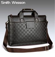 Wholesale Special offer GENUINE LEATHER Korean version influx of Men Messenger computer bag business brie
