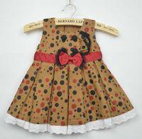 Summer jean skirts - Girls Polka Dot Denim Dresses Fashion Bowknot Casual Dresses Jean Skirt Lace Dresses Jumper Skirt