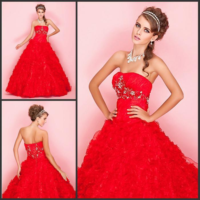New Arrival!bright Red Wedding Dresses Bridal Dresses Bright Red ...