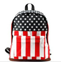 Wholesale Unisex teenager School bag Book fashion Campus Backpack bags Canvas Handbag UK US Flag bag design