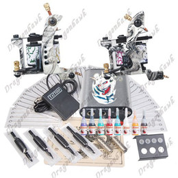 Wholesale tattoo starter kit machine guns power supply needles grips kit DIY