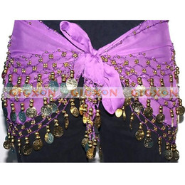 Wholesale New High Quality Exquisite Belly Dance Gold Coin Belt Hip Scarf Wrap Coins Beads