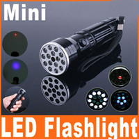 OEM  160lm LED Flashlight 15 LED Flashlight Lamp Torch UV LASER Ultraviolet 3 in 1 Aluminum Camping Pocket Waterproof