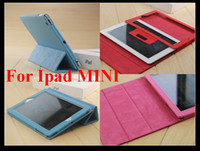 Wholesale PU Folio Leather Case Smart Cover for Apple Ipad Mini with Stand Holder Colors in Stock Low Price