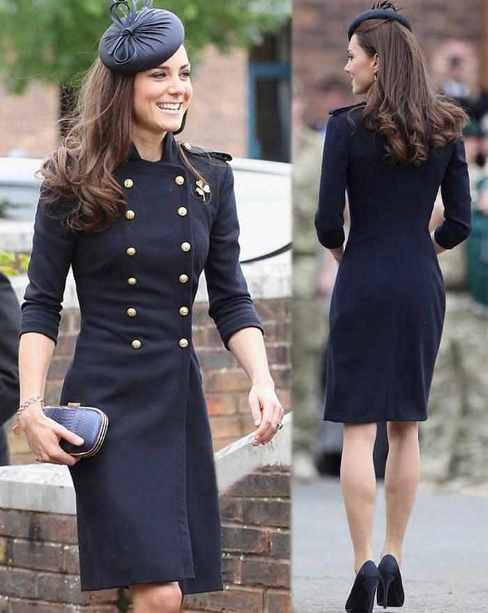 New Elegant Women Long Wool Coat Kate Middleton Double Breasted