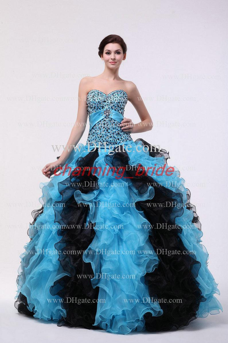 Sweetheart Quinceanera Dress Pageant Prom Dresses Ruffles A Line ...